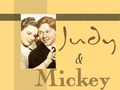 Judy And Mickey - vintage wallpaper
