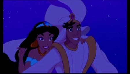 Aladin and jimmy, hunitumia karatasi la kupamba ukuta entitled Aladdin-A Whole New World