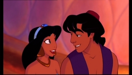 Aladdin and Jasmine wallpaper entitled Aladdin-Back to Normal