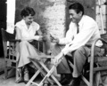 Audrey Hepburn And Gregory Peck Taking A Break From Making The Film Roman Holiday - classic-movies photo