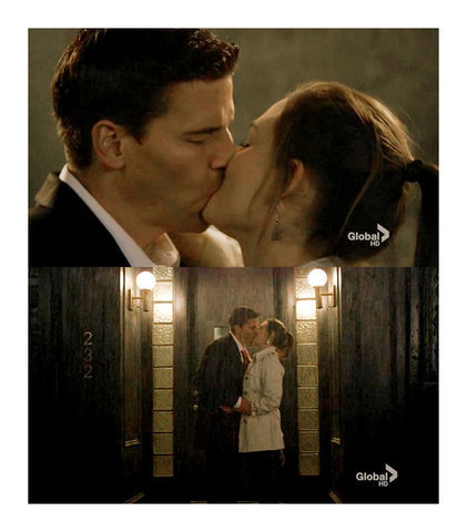 Booth and Bones wallpaper entitled Bones Past kiss
