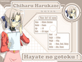 Chiharu's Biodata - hayate-the-combat-butler wallpaper