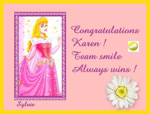 Congratulations Karen !!
