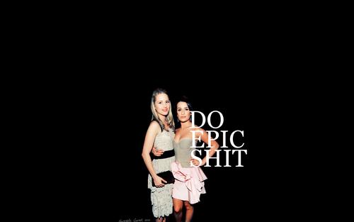 Lea Michele and Dianna Agron wallpaper entitled Dianna & Lea