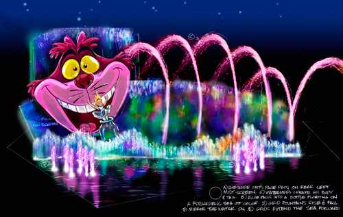Disney's World of Color Show- Chesire Cat Concept Art