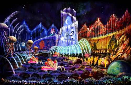 Disney's World of Color Show- Finale Concept Art