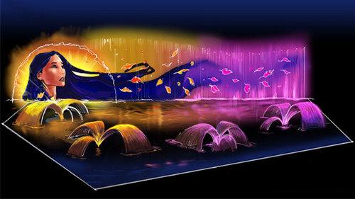 Disney's World of Color Show- Pocahontas Concept Art