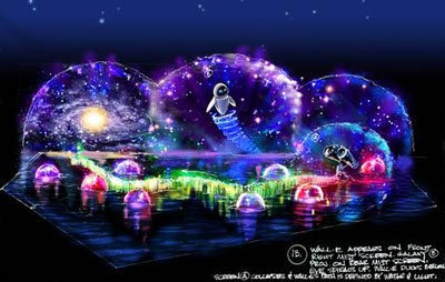 Disney's World of Color Show- WALL-E Concept Art
