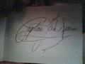 Jack Sparrow autograph from Disneyland Paris