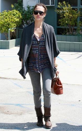 Jessica out in Brentwood