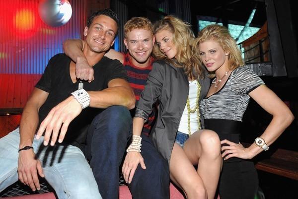Kellan Lutz at nightclub in St-Marteens Island with Annalynne & Friends