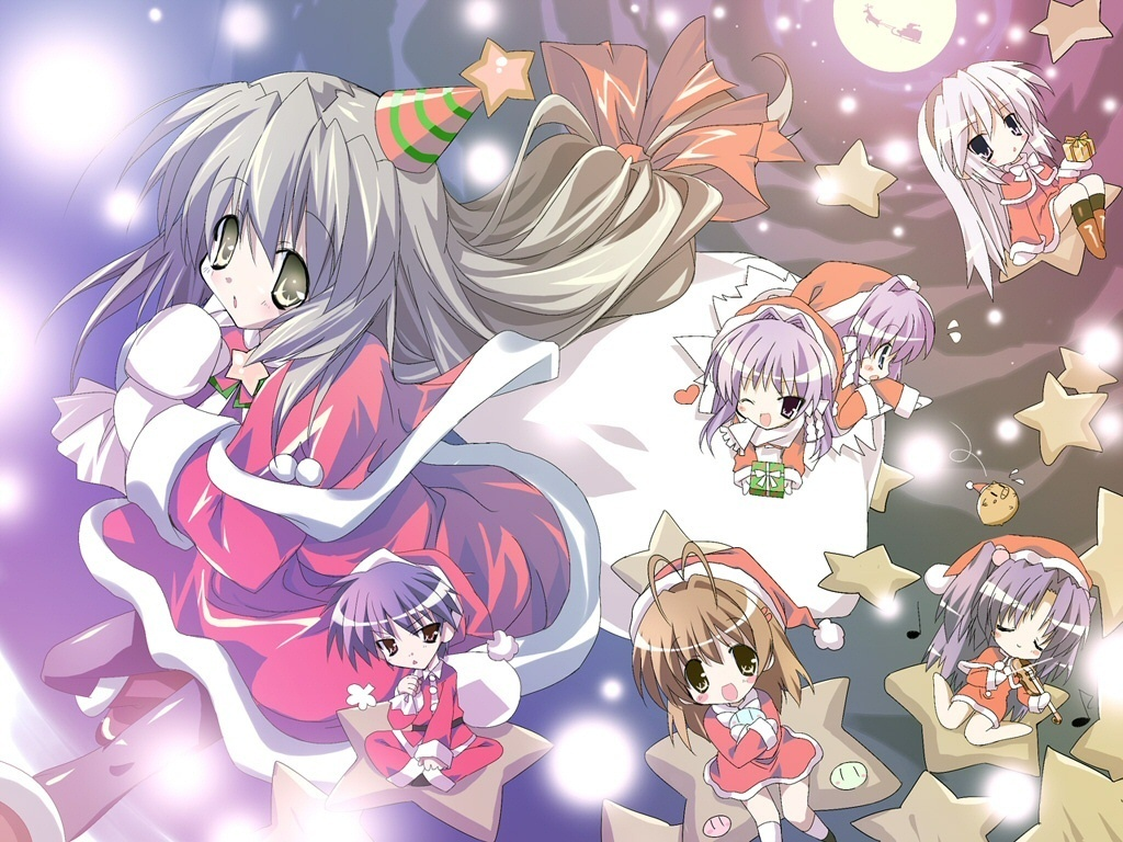 Anime Images Merry Christmas HD Wallpaper And Background Photos