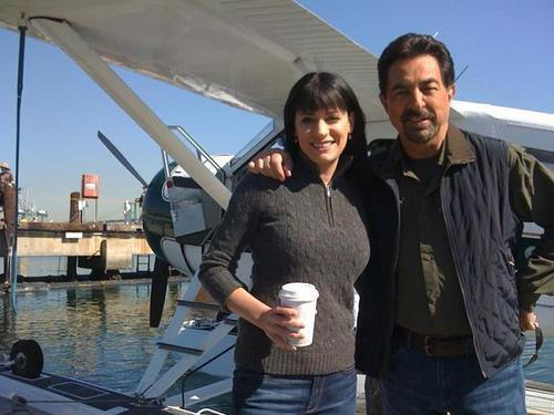 Paget Brewster wallpaper called Paget and Joe