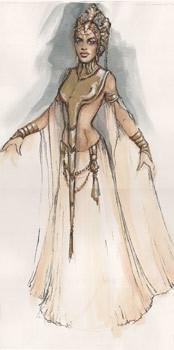 Costume Sketch - Akasha