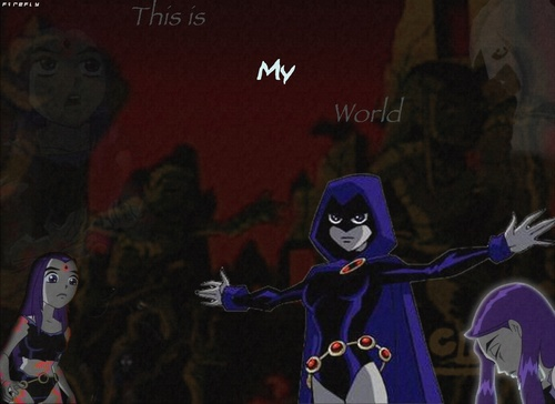 Teen Titans Girls Hintergrund titled Raven