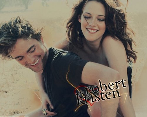Robert Pattinson and Kristen Stewart having a blast!