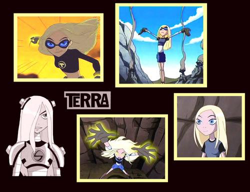 Teen Titans Girls Hintergrund titled Terra