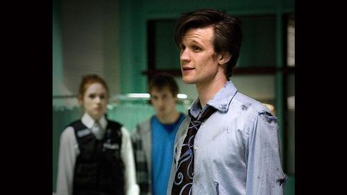 Doctor Who kertas dinding titled The Eleventh jam