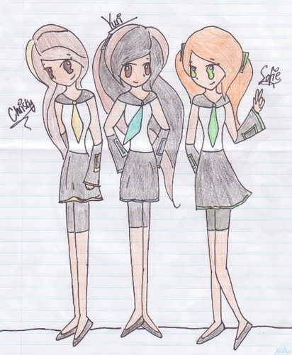 Yuri, Christy, Sofie - Vocaloids