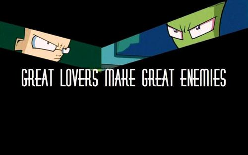 Zim/Dib ~ Great Lovers Make Great Enemies - invader-zim Wallpaper