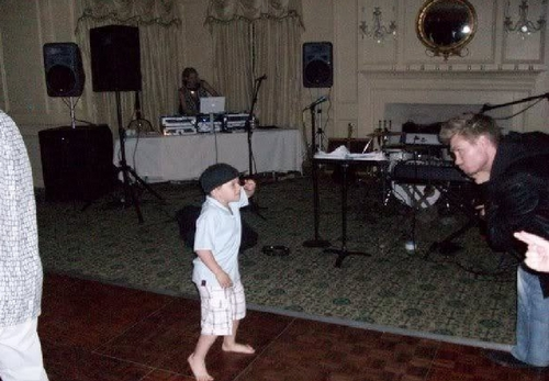 jackson and chad dancing :p