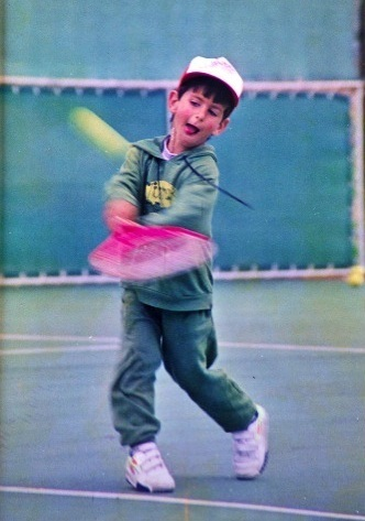little djoko and розовый racquet