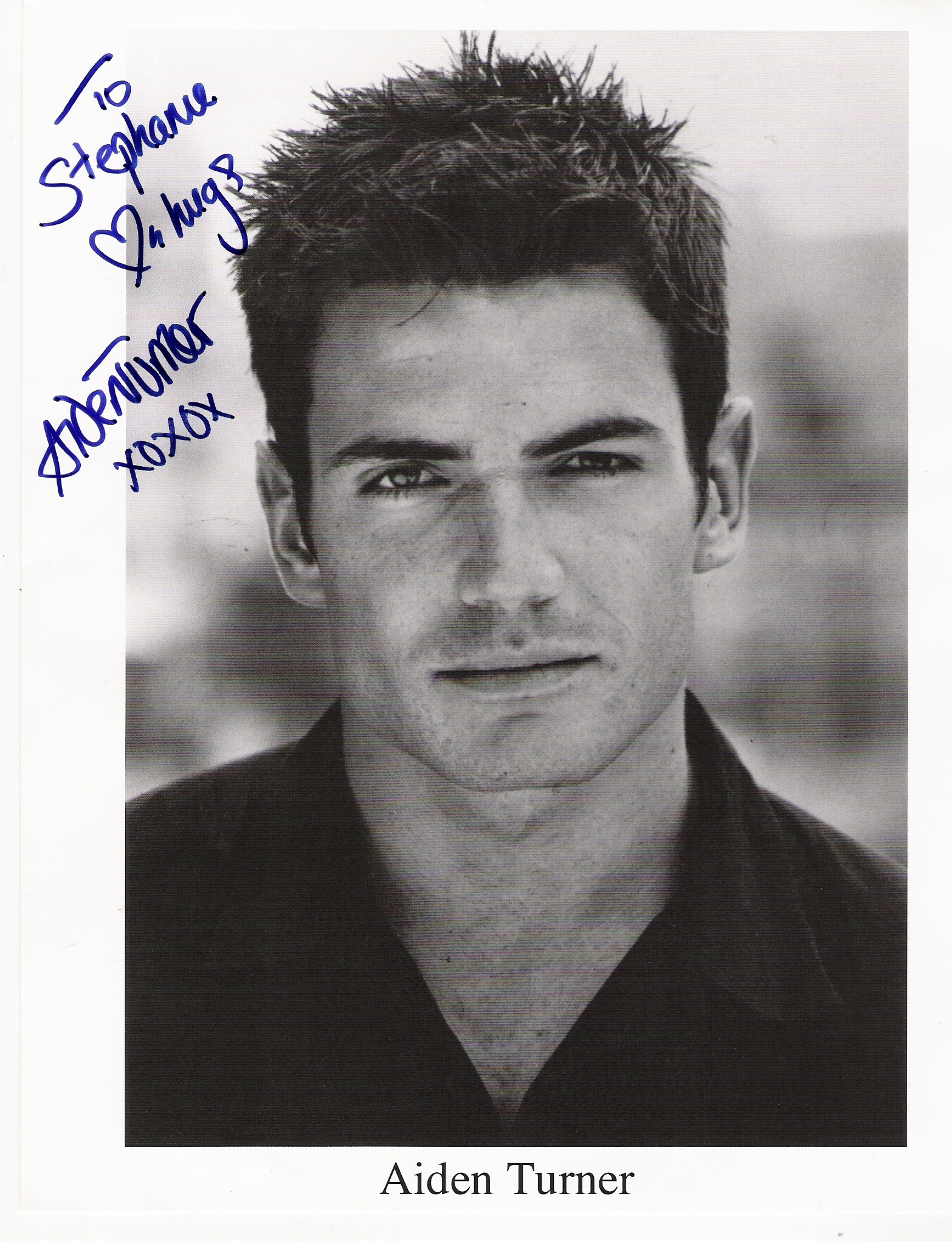 Aiden Turner Images My Autographed Picture From Aiden