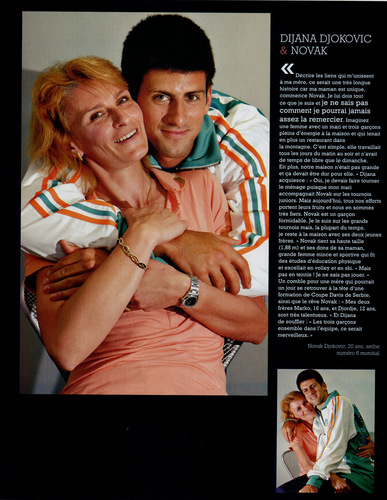 Novak Djokovic wallpaper entitled novak and mother