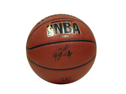 ball with Rajon ROndo's autograph