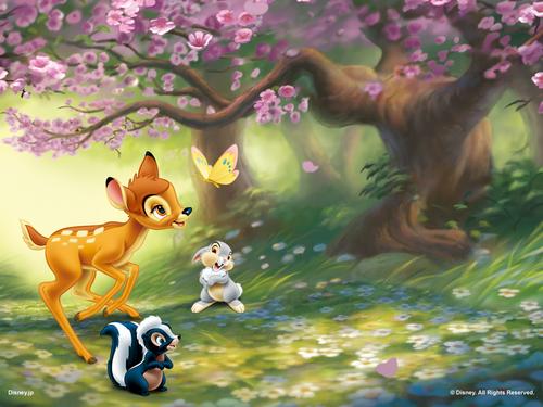 Disney پیپر وال titled Bambi