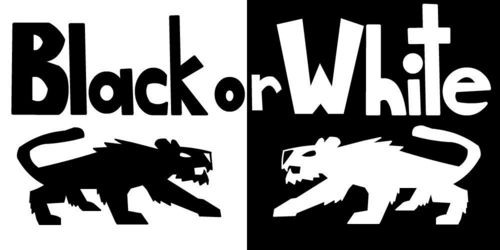 Black or White (logo)