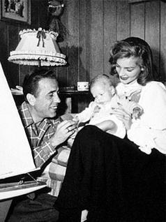 Bogie and Bacall at home pagina