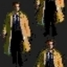 Castiel repeating pattern wallpaper tile