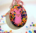 chokoleti marshmallow Bunny Hiding In Candy Sprinkles