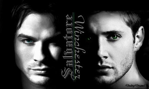 Damon & Dean kertas dinding