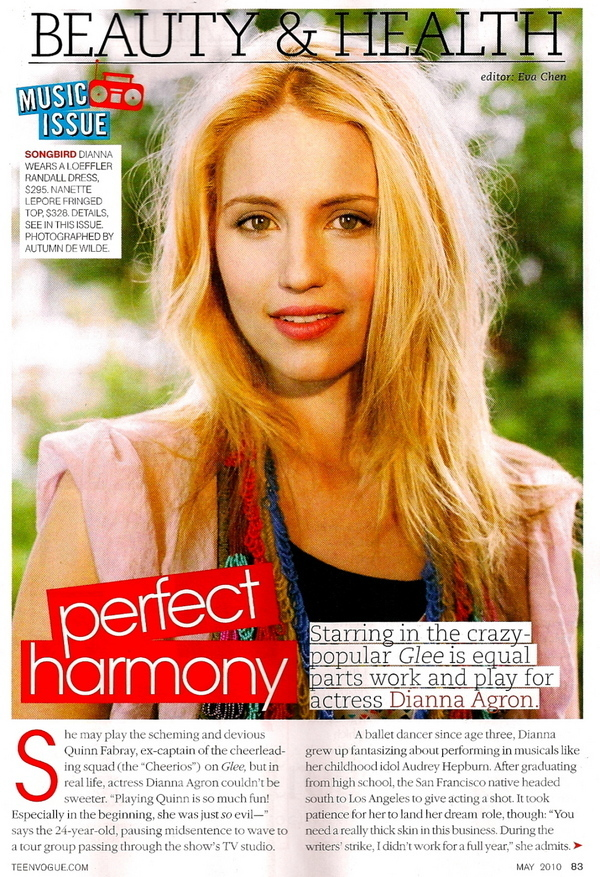Dianna Agron - Teen Vogue Photo Shoot