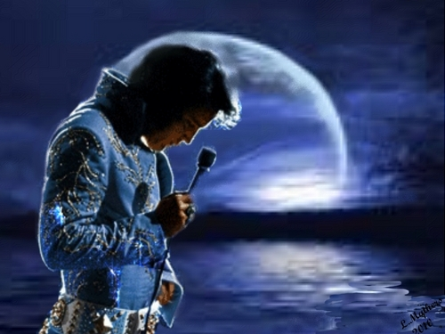 Elvis Presley wallpaper titled Elvis in Blue Moon