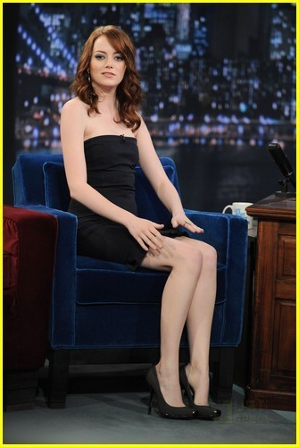 Emma Stone on Late Night With Jimmy Fallon