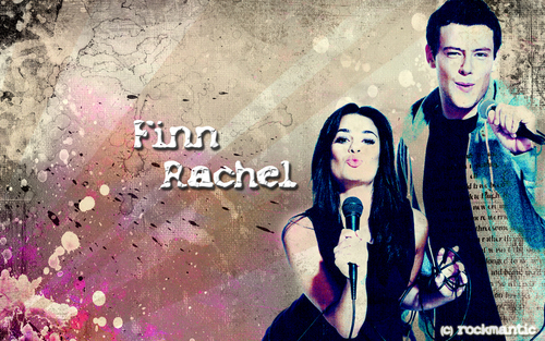 Glee wallpaper titled Finn/Rachel