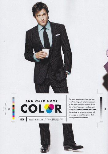 Ian Somerhalder fashion spread in May 2010 GQ