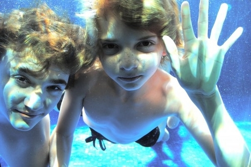 Kyle & Jack Underwater - kyle-gallner Photo