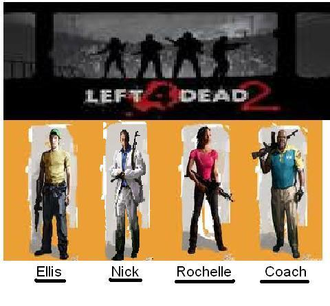 Left 4 Dead wallpaper entitled L4D 2 Characters
