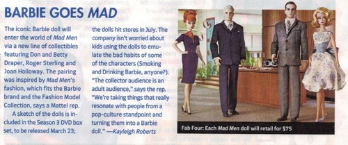 Mad Men Barbie Puppen