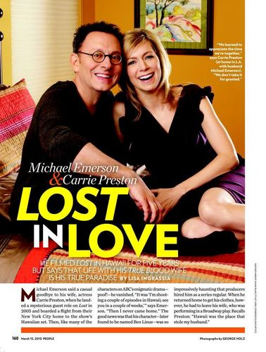 Michael Emerson & Carrie Preston - PEOPLE MAGAZINE