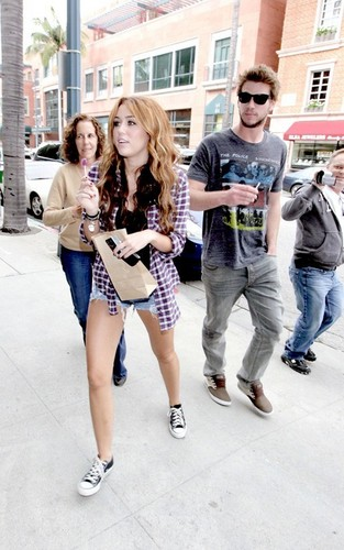 Miley out in Beverly Hills