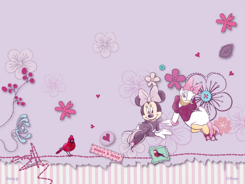 disney wallpaper titled Minnie&Daisy