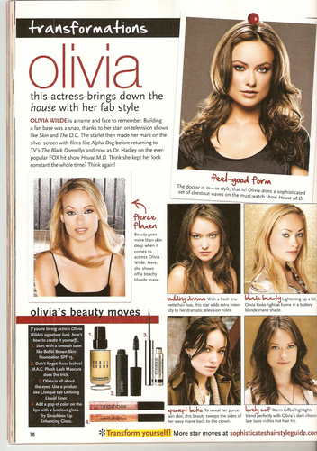 Olivia in Sophisticate's Hairstyle Guide - March 2010