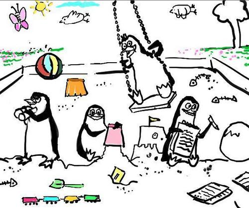 Our beloved Penguins as Toddlers:)
