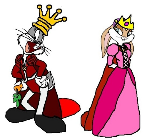 Looney Tunes achtergrond entitled Prince Bugs and Princess Lola