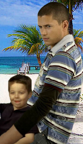 Prison Break - Michael and his little son MJ